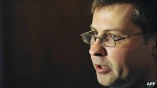 Latvian PM Valdis Dombrovskis