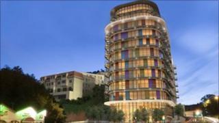 Artist's impression of Terrace Mount development
