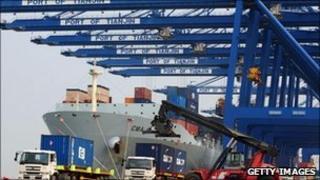 Ship in Tianjin port