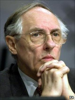Donald Dewar, pictured a month before his death