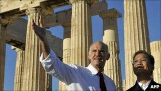 Wen Jiabao and George Papandreou