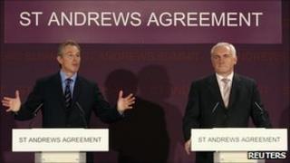 Tony Blair and Bertie Ahern