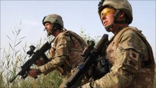 British soldiers in Afghanistan (July 2010)