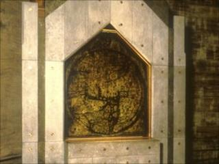 Jerusalem is at the centre of the world in the medieval Mappa Mundi (pic Hereford Cathedral/Gordon Taylor)