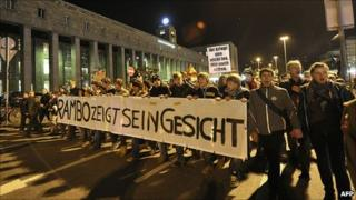 March by opponents of Stuttgart 21 construction, 1 Oct 10