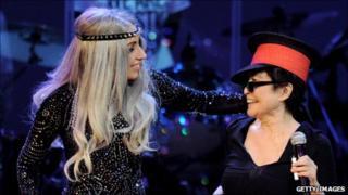 Lady Gaga and Yoko Ono