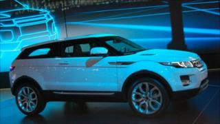 Land Rover Evoque at the Paris motor show