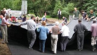 Work at Shadbolt Park Pond