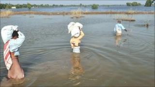 Pakistan flood water in September