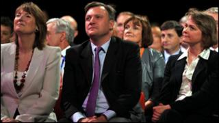 Harriet Harman, Ed Balls and Yvette Cooper at the Labour conference