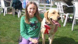 George the missing Labrador with Scarlett Aylen