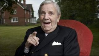Sir Norman Wisdom photographed in 2008