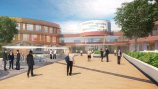 Artist's impression for the planned redevelopment of President Kennedy School in Coventry