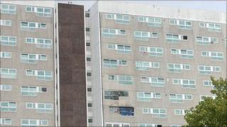 Fire damage still remains at Shirley Towers