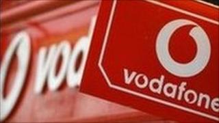 Vodafone sign