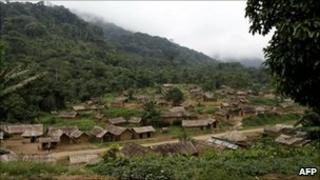 Village of Luvungi, eastern DR Congo