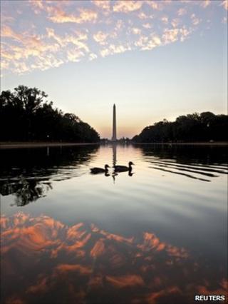 Sunset by the Washington Monument