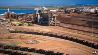 BHP Billiton Iron ore operations in WA