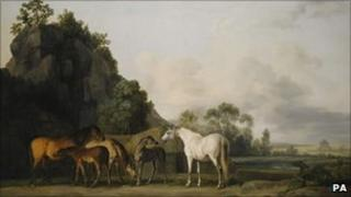 George Stubbs' Brood Mares and Foals