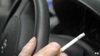 Smoking in car