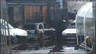 Scene of scrapyard fire