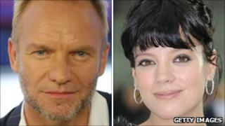 Sting and Lily Allen