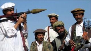 Militants in Waziristan