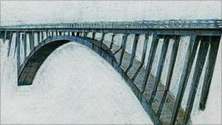 image of a bridge - picture by Aled Rhys Hughes