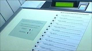 e-voting machine (Photo from RTE)