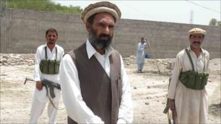 Haji Hashim Ali at the community housing project near Alizai town