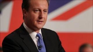 David Cameron at Tory Party Conference