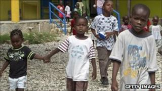 Orphans in Haiti