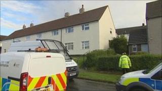Burnley murder scene on Wednesday