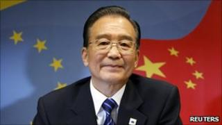 Chinese Premier Wen Jiabao looks on at the start of an EU-China summit at the EU Council in Brussels