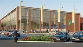 Artist impression of the £26m centre for Luton due to open in 2012