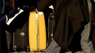 Man loading luggage