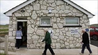 Rathlin Polling station