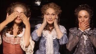 Actors in period costume for BBC drama Aristocrats