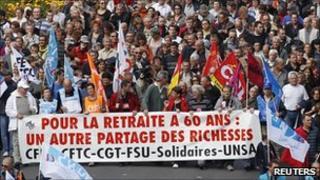 Pension reform strikes