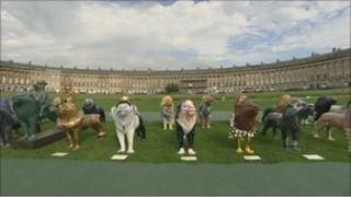 Lions in Bath