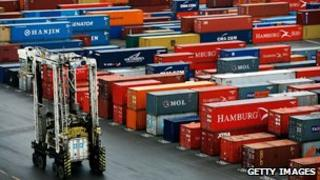 Ship freight container transporter