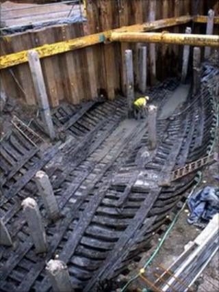 The medieval ship discovered in Newport, south Wales