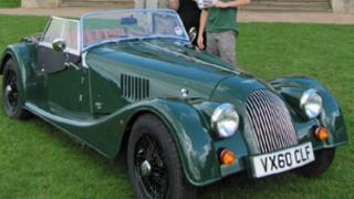 Morgan sports car being raffled