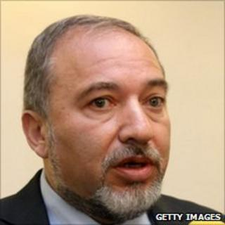 Israeli Foreign Minister Avigdor Lieberman before cabinet meeting, 10 October 2010