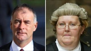 Tommy Sheridan and Maggie Scott QC