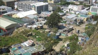 Squatter camp and mosque