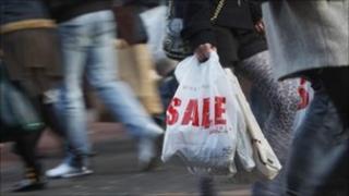 Shoppers in Glasgow