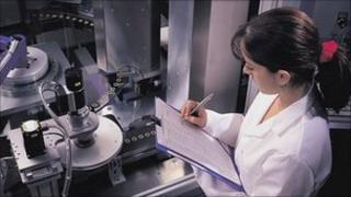 Lab technician (file pic)