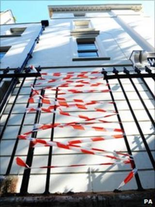 The scene where Mika's sister fell onto the railings