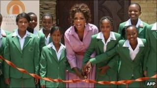 Oprah Winfrey opening the school in 2007